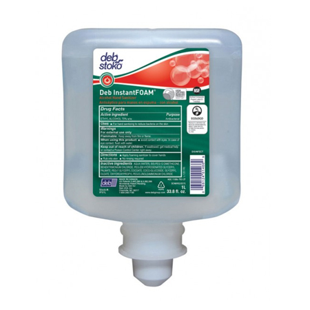 DEB ALCOHOL FOAMING HAND SANITIZER 1 LITER REFILL-6/CS
