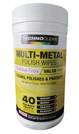 MULTI METAL POLISH WIPES 40CT/TUB - 1TUB