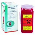 1.4 QT. RED SHARPS CONTAINER- 1 EACH