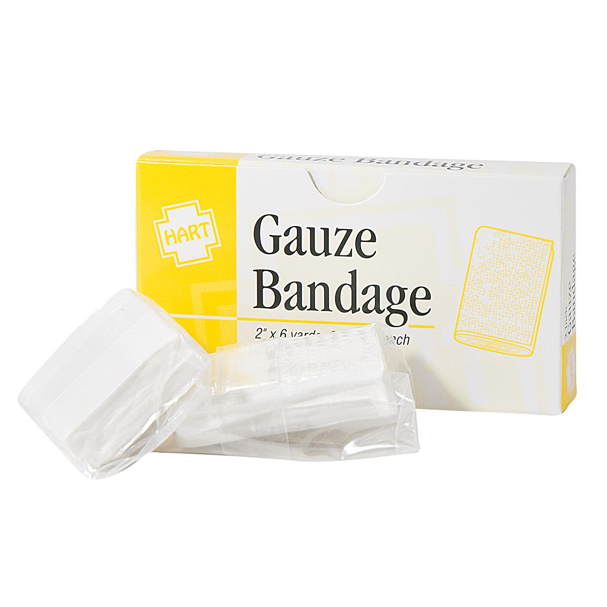 """2"""" X 6 YD. GAUZE BANDAGE ROLL.. 2/ BOX"""