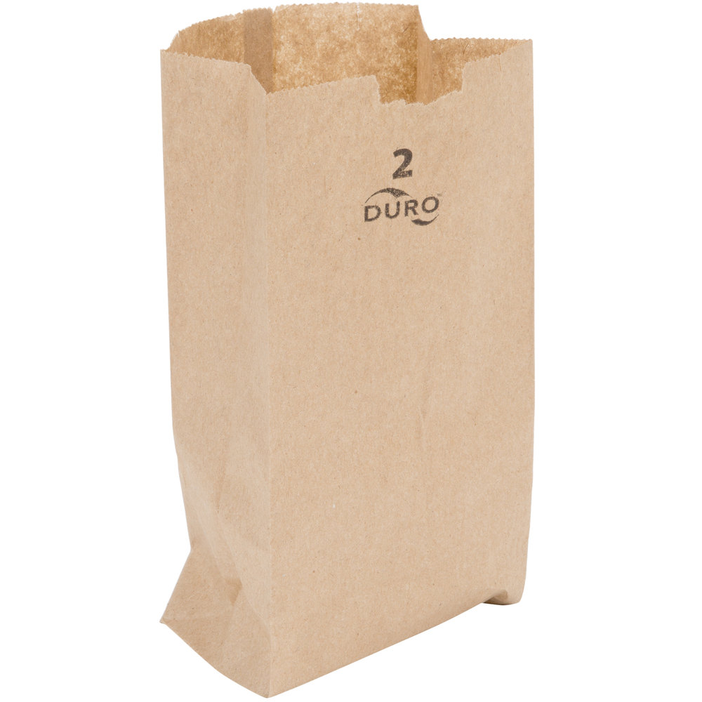 2# BROWN GROCERY SACK-500/BNDL