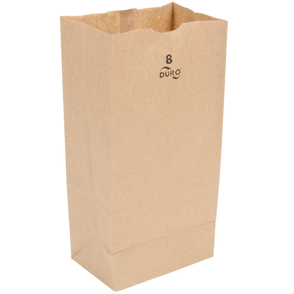 8#  BROWN GROCERY SACK-500/BND