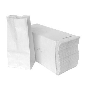 5# WHITE GROCERY BAG- 500/BUNDLE