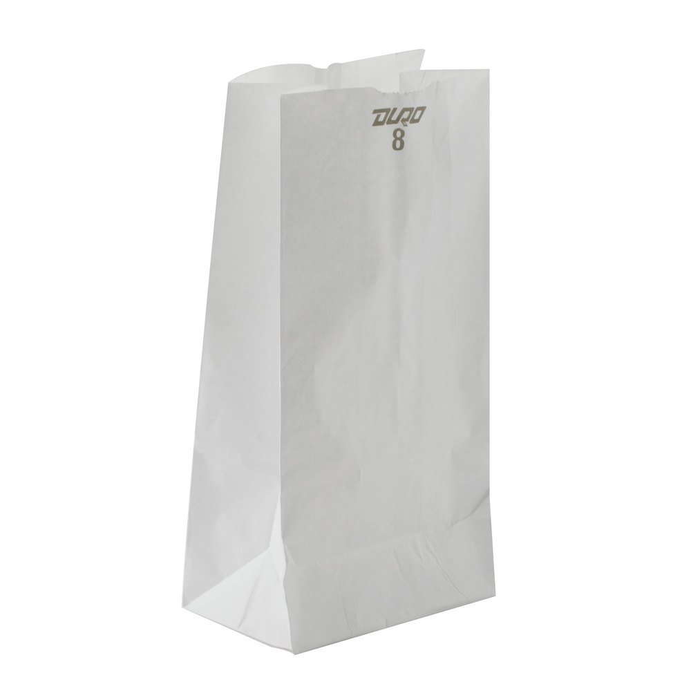 8 # WHITE BAG 500/BUNDLE