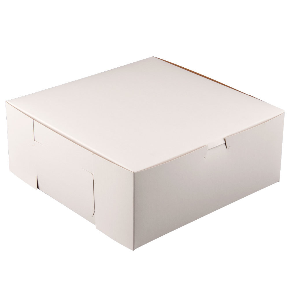 10X10X5.5 WHITE BAKERY BOX