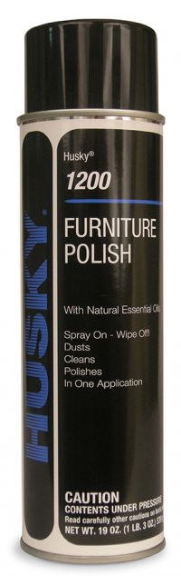 HUSKY WATER BASED AEROSOL FURNITURE POLISH FORTIFIED WITH LEMON OIL-1 CAN