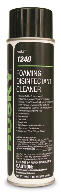 HUSKY AEROSOL FOAMING DISINFECTANT RESTROOM CLEANER 19 OZ- 1 CAN