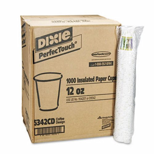 12 OZ. COFFEE DREAMS INSULATED PAPER COFFEE CUPS-1000/CS