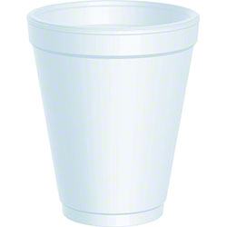 10 OZ. WHITE STYROFOAM CUPS-1000/CS.