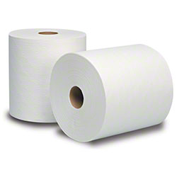 "8"" X 630' DUBLSOFT WHITE ROLL TOWEL- 6/CS  (REPLACES BW 316)"
