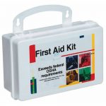10 PERSON FIRST AID KIT IN PLASTIC CASE W/GASKET-1 KIT