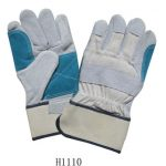 DOUBLE REINFORCED PALM LEATHER GLOVES W/ SAFETY CUFF..1 DOZEN