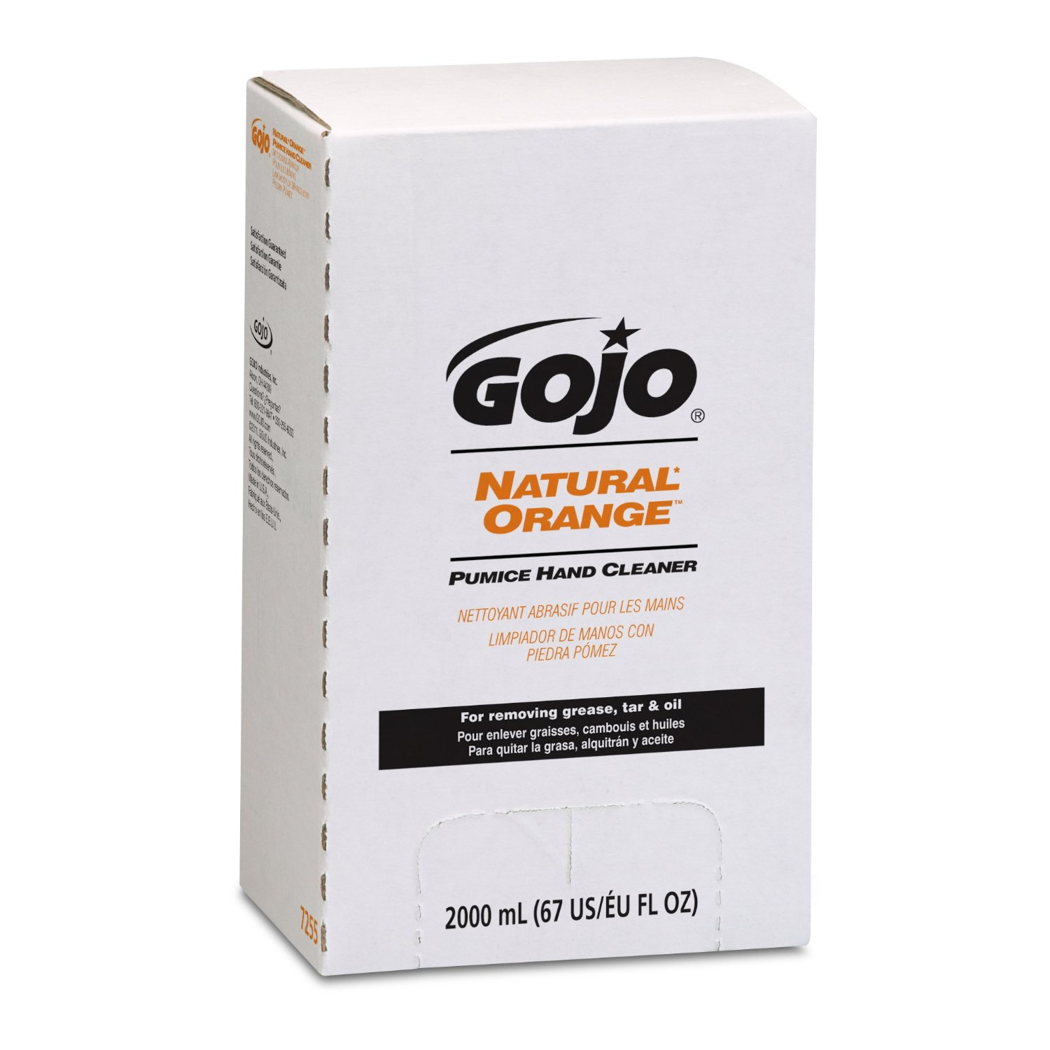 GOJO ORANGE LOTION HAND CLEANER W/ PUMICE  2000 ML-4/CS.