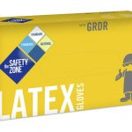 LIGHTLY POWDERED LATEX GLOVE MED.  SMOOTH OR TEXTURED- 100/BOX