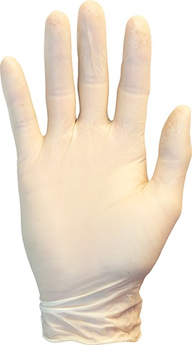 POWDER FREE LATEX GLOVES X-LARGE-100/BOX