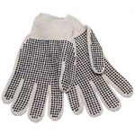 MEDIUM WT.ECONOMY SINGLE SIDED DOT GLOVES / SMALL..1 DOZEN