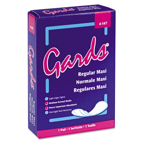 GARDS #4 MAXI PAD  INDIVIDUALLY BOXED-250/CS