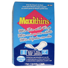 MAXI THINS W/ WINGS 200/CS