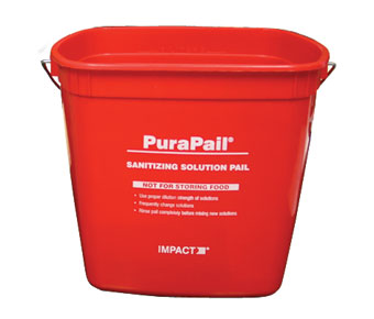 RED 6 QT.  STERI-PAIL SANI BUCKET-1 EACH