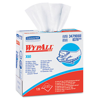 KIMBERLY CLARK WYPALL X 60 REINFORCED WIPER 126/BOX .. 10 BOXES/CASE