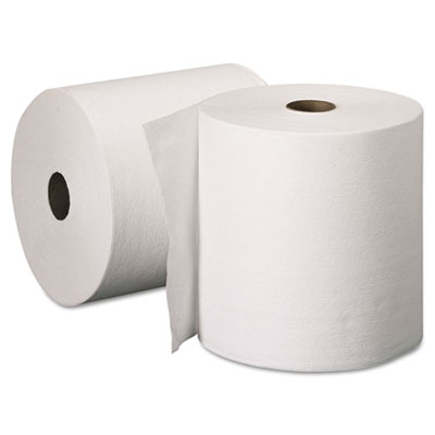 "8""X 600' WHITE ROLL TOWELS W/ 1.75"" CORE- 6/CS  FITS ELECTRIC EYE DISPENSER"