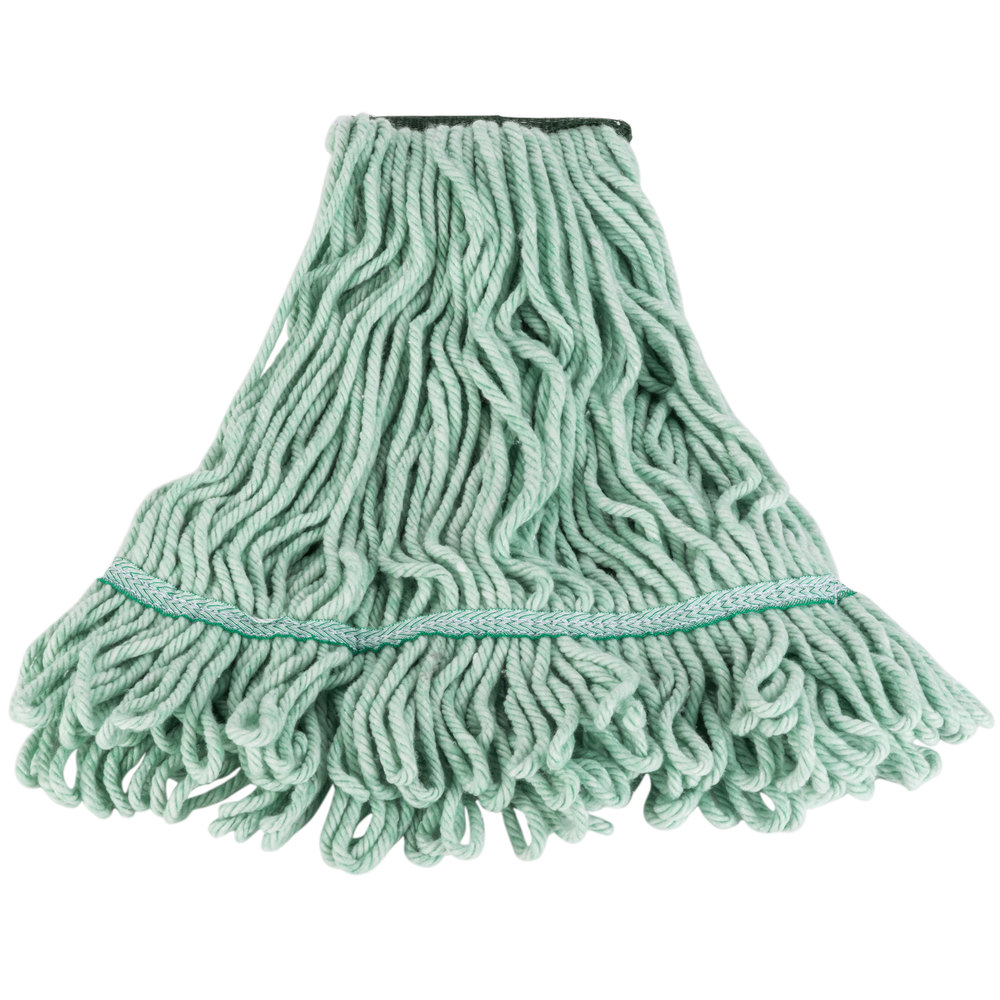 MEDIUM LOOPED END MICROFIBER BLENDED MOP HEAD W/ 1 1/2' HEADBAND-1 EACH