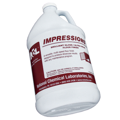 IMPRESSIONS  21% SOLIDS HIGH GLOSS LOW MAINTENANCE FLOOR FINISH  1 GALLON