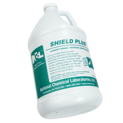 SHIELD PLUS CARPET PROTECTION..(DILUTES 32 OZ. PER GALLON OF WATER WHEN CARPET IS WET)