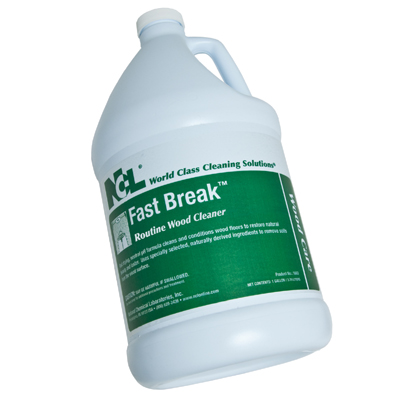 FAST BREAK WOOD FLOOR CLEANER FOR ROUTINE CLEANING AND SLIP RESISTANCE 1 GALLON