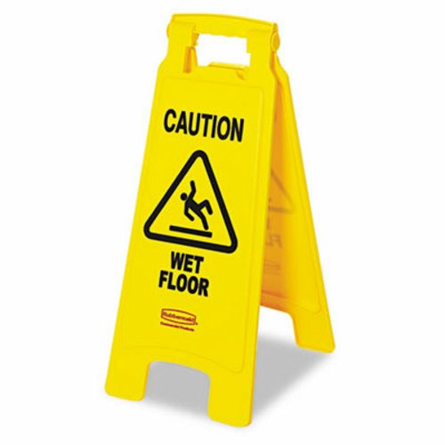 YELLOW WET FLOOR SIGN- 1 EACH