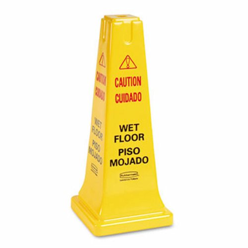 YELLOW WET FLOOR TRIANGLE SIGN- 1 EACH