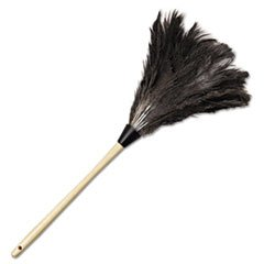 "23"" OSTRICH FEATHER WITH WOOD HANDLE"