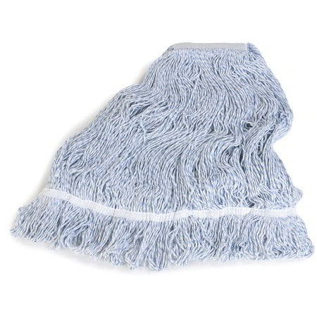 FINISH MOP HEAD  4 PLY  LARGE BLUE/WHITE - 1 EACH